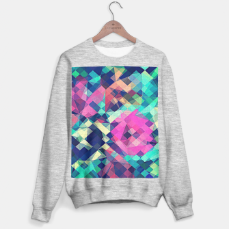 Miniature de image de Fruity Rose - Fancy Colorful Abstraction Pattern Design (green pink blue) Sweater regular, Live Heroes