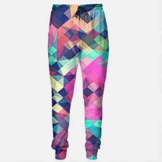 Miniature de image de Fruity Rose - Fancy Colorful Abstraction Pattern Design (green pink blue) Sweatpants, Live Heroes