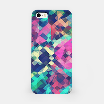Miniature de image de Fruity Rose - Fancy Colorful Abstraction Pattern Design (green pink blue) iPhone Case, Live Heroes