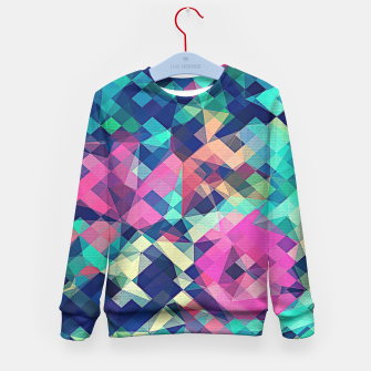 Miniature de image de Fruity Rose - Fancy Colorful Abstraction Pattern Design (green pink blue) Kid's Sweater, Live Heroes