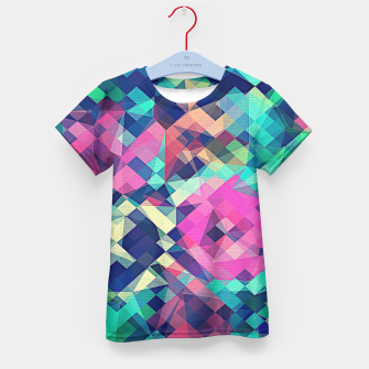 Miniature de image de Fruity Rose - Fancy Colorful Abstraction Pattern Design (green pink blue) Kid's T-shirt, Live Heroes