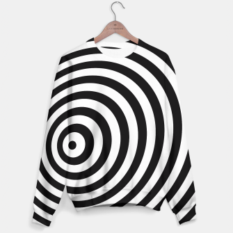 Miniature de image de Modern Black & White Geometric Optical Illusion Sweater, Live Heroes