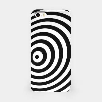 Miniature de image de Modern Black & White Geometric Optical Illusion iPhone Case, Live Heroes