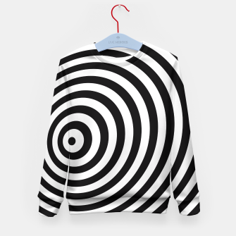 Miniature de image de Modern Black & White Geometric Optical Illusion Kid's Sweater, Live Heroes