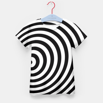 Miniature de image de Modern Black & White Geometric Optical Illusion Kid's T-shirt, Live Heroes