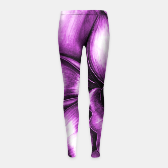 Thumbnail image of CharChid Girl's Leggings, Live Heroes
