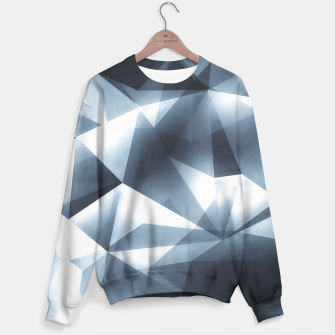 Miniature de image de Abstract geometric triangle pattern ( Carol Cubism Style) in ice silver - gray Sweater, Live Heroes