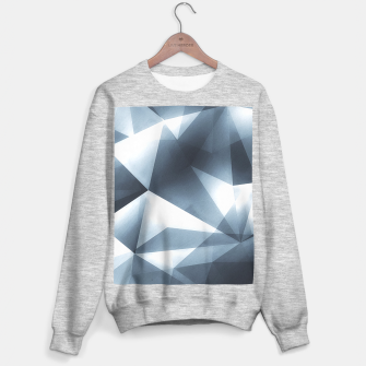Miniature de image de Abstract geometric triangle pattern ( Carol Cubism Style) in ice silver - gray Sweater regular, Live Heroes