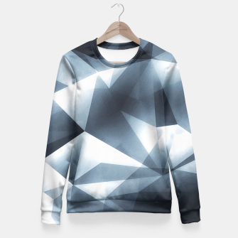 Miniature de image de Abstract geometric triangle pattern ( Carol Cubism Style) in ice silver - gray Fitted Waist Sweater, Live Heroes