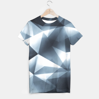 Miniature de image de Abstract geometric triangle pattern ( Carol Cubism Style) in ice silver - gray T-shirt, Live Heroes