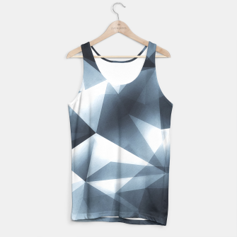 Miniature de image de Abstract geometric triangle pattern ( Carol Cubism Style) in ice silver - gray Tank Top, Live Heroes