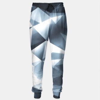 Miniature de image de Abstract geometric triangle pattern ( Carol Cubism Style) in ice silver - gray Sweatpants, Live Heroes