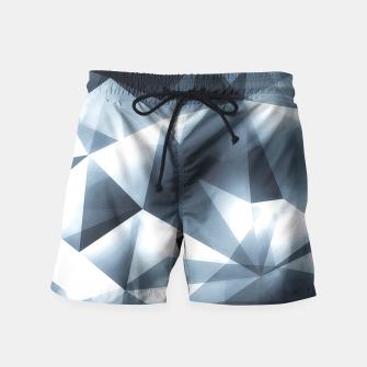 Miniature de image de Abstract geometric triangle pattern ( Carol Cubism Style) in ice silver - gray Swim Shorts, Live Heroes