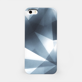 Miniature de image de Abstract geometric triangle pattern ( Carol Cubism Style) in ice silver - gray iPhone Case, Live Heroes