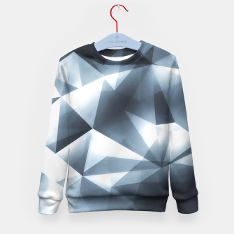 Miniature de image de Abstract geometric triangle pattern ( Carol Cubism Style) in ice silver - gray Kid's Sweater, Live Heroes