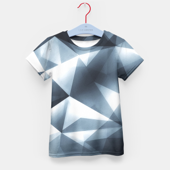 Miniature de image de Abstract geometric triangle pattern ( Carol Cubism Style) in ice silver - gray Kid's T-shirt, Live Heroes
