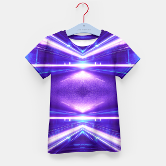 Miniature de image de Geometric Street Night Light (HDR Photo Art) Purple Kid's T-shirt, Live Heroes