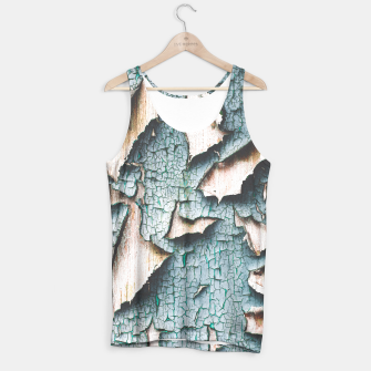 Rustic old light blue green peeling paint Tank Top thumbnail image