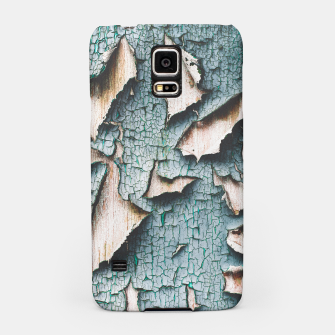 Rustic old light blue green peeling paint Samsung Case thumbnail image