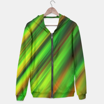 Colorful neon green brush strokes on dark gray Hoodie thumbnail image