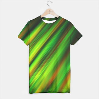 Colorful neon green brush strokes on dark gray T-shirt thumbnail image