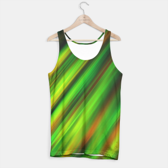 Colorful neon green brush strokes on dark gray Tank Top thumbnail image