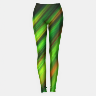 Colorful neon green brush strokes on dark gray Leggings thumbnail image