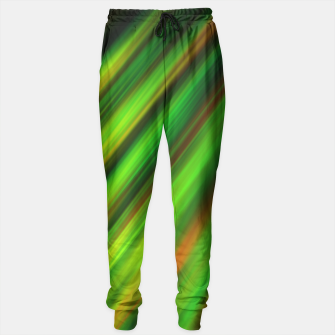 Colorful neon green brush strokes on dark gray Sweatpants thumbnail image