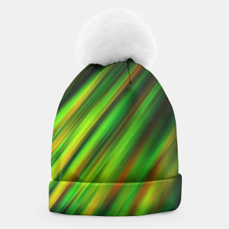 Colorful neon green brush strokes on dark gray Beanie thumbnail image