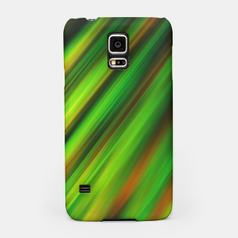 Colorful neon green brush strokes on dark gray Samsung Case thumbnail image