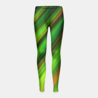 Colorful neon green brush strokes on dark gray Girl's Leggings thumbnail image