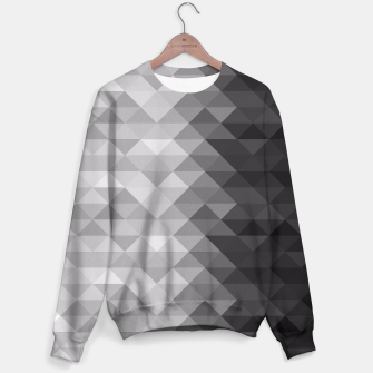 Grayscale triangle geometric squares pattern Sweater thumbnail image