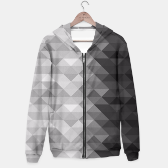 Grayscale triangle geometric squares pattern Hoodie thumbnail image