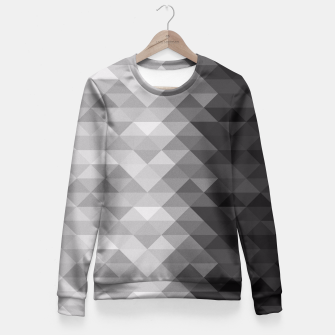 Grayscale triangle geometric squares pattern Fitted Waist Sweater thumbnail image