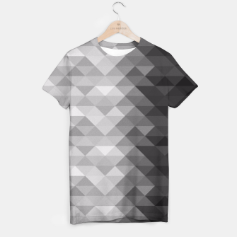 Grayscale triangle geometric squares T-shirt thumbnail image