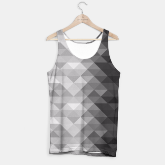 Grayscale triangle geometric squares pattern Tank Top thumbnail image