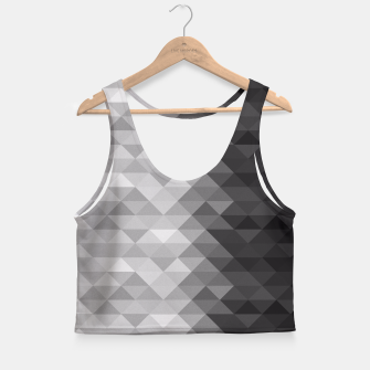 Grayscale triangle geometric squares Crop Top thumbnail image
