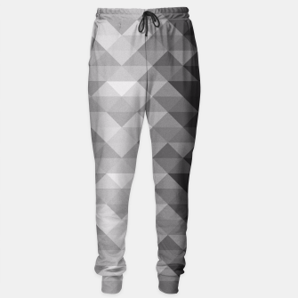 Grayscale triangle geometric squares pattern Sweatpants thumbnail image