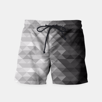 Grayscale triangle geometric squares pattern Swim Shorts thumbnail image