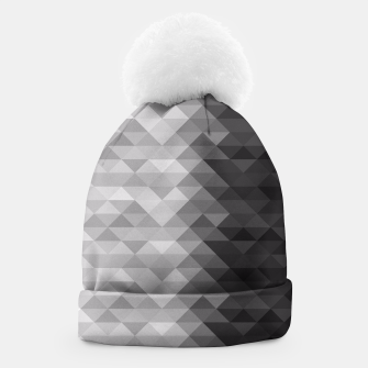 Grayscale triangle geometric squares pattern Beanie thumbnail image