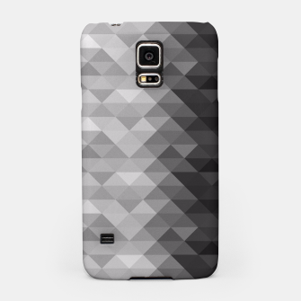 Grayscale triangle geometric squares pattern Samsung Case thumbnail image
