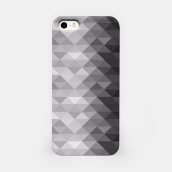 Grayscale triangle geometric squares pattern iPhone Case thumbnail image