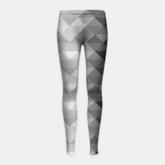 Grayscale triangle geometric squares pattern Girl's Leggings thumbnail image