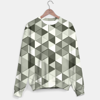Thumbnail image of Grayscale triangle galore Sweater, Live Heroes