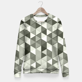 Thumbnail image of Grayscale triangle galore Fitted Waist Sweater, Live Heroes