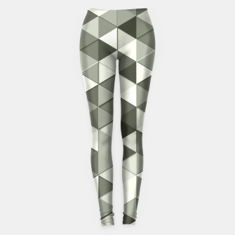Thumbnail image of Grayscale triangle galore Leggings, Live Heroes