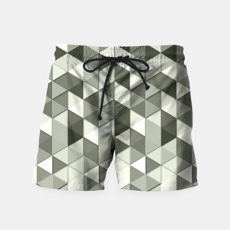 Thumbnail image of Grayscale triangle galore Swim Shorts, Live Heroes