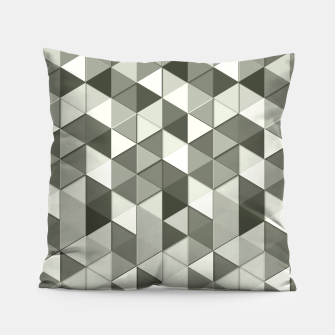 Thumbnail image of Grayscale triangle galore Pillow, Live Heroes