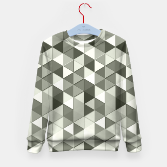 Thumbnail image of Grayscale triangle galore Kid's Sweater, Live Heroes