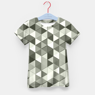 Thumbnail image of Grayscale triangle galore Kid's T-shirt, Live Heroes